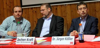Das Tagespräsidium v.li. Manuel Ehni, Dr. Jürgen Kößler und Jochen Kraft