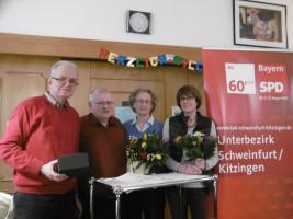 Peter Then, Rainer Rummert, Traudel Steinmüller und Hanne Kranz