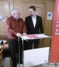 Rainer Rummert mit Bundestagskandidat Markus Hümpfer