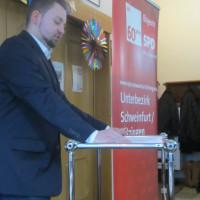 Markus Hümpfer spricht bei der 60plus-Konferenz Schweinfurt/Kitzingen